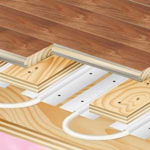 hardwood heating floor